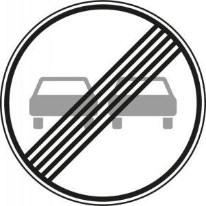 VZ 280 - Verkehrsschild Überholverbot Ende