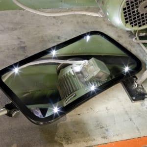 Inspektionsspiegel IS-L mit LED Beleuchtung und Rollen
