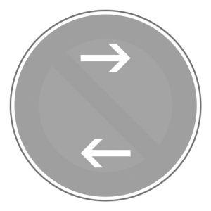 Verkehrszeichenpfeil für Halte- / Parkverbotschilder