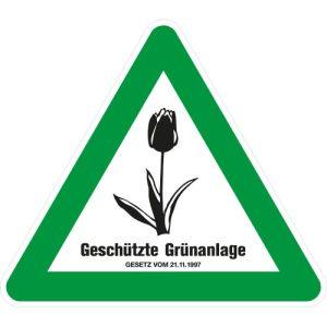 Tulpenschild - Geschützte Grünanlage