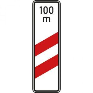 Bake zweistreifig mit Entfernungsangabe VZ 159-11