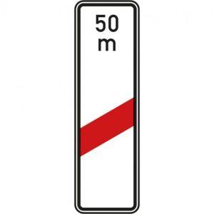 VZ 162-11 Einstreifige Bake mit Entfernungsangabe