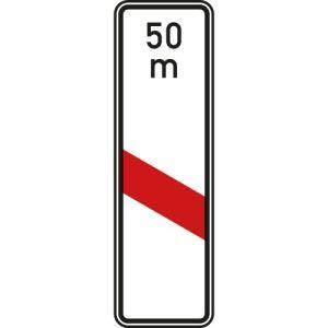 Bake einstreifig mit Entfernungsangabe VZ 159-21