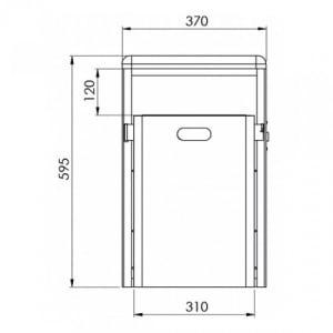 Rechteck-Abfallbehälter mit abgerundeter Abdeckhaube - Inhalt 40 Liter