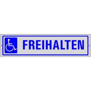 Edler Parkplatzreservierer Behindertenparkplatz freihalten