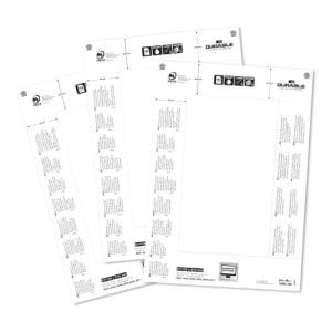Einsteckschilderbogen für Tischschilder