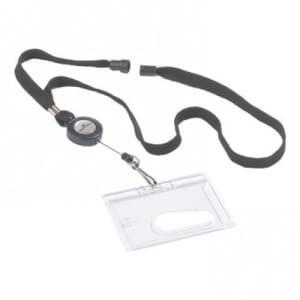 Ausweishalter JOJO mit Federhaken und Textilband, Durable (10er VPE)