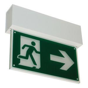 Rettungszeichenleuchte FRANKFURT (Deckenaufbau), 7L-Schutzlicht