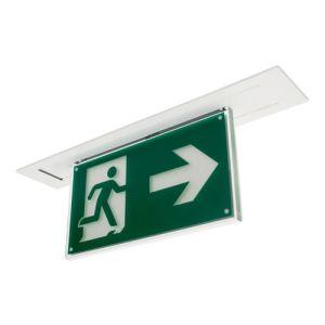 Rettungszeichenleuchte BREMEN (Deckeneinbau), 7L-Schutzlicht