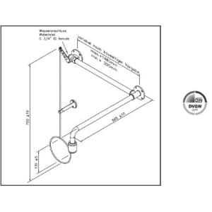 Variable Notdusche mit Zugstange (Über-Tür-Montage Aufputz)