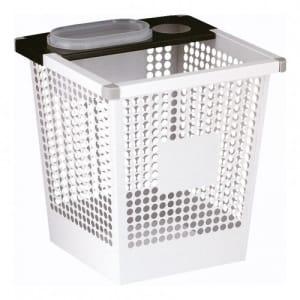 Kegelförmiger Papierkorb mit Stoßecken, viereckig - Inhalt 27 Liter