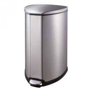Halbrunder Tritt-Mülleimer, EKO - Inhalt 35 Liter