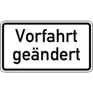 Zusatzschild Vorfahrt geändert Zusatzzeichen 1008-30