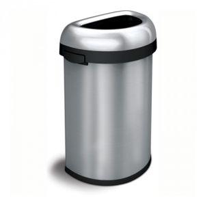 Halbrunder Abfallbehälter SEMI ROUND BIN, Simplehuman - Inhalt 60 Liter