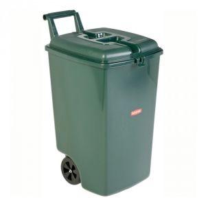 Mobile Mülltonne mit separatem Deckel und Rollen - Inhalt 90 Liter