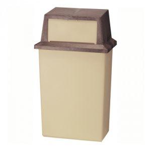 Abfallbehälter WALL HUGGER, witterungsbeständig - Inhalt 80 Liter