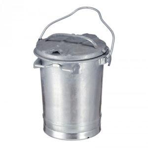 Mülltonne mit Deckel und Bügel, feuerfest - Inhalt 35 Liter