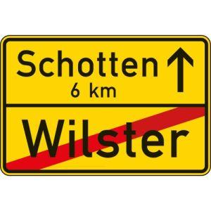 VZ 311 - Ortsausgangsschild - Ortstafel Rückseite