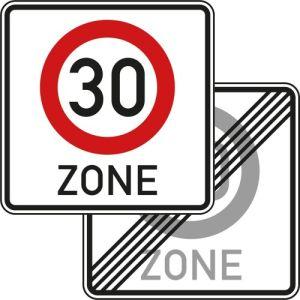 Tempozone 30 km/h Verkehrsschild VZ 274.1-40