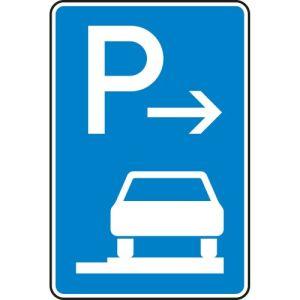 VZ 315-67 Parken auf Gehwegen Schild (Ende)