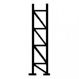 Gittermasten mit gleich langen Standrohren