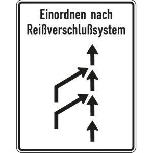 Reißverschlussverfahren Schild gemäß StVO