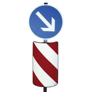 Verkehrsleitsäule Flachschild mit Kantenschutz