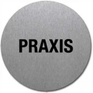 Textschild - Praxis (rund) Typ 2