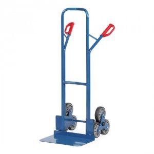 Stahlrohr-Treppenkarre mit großer Schaufel, Treppensternen - Tragkraft 200 kg