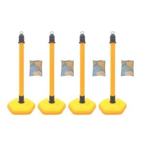 Kettenständer - Kettenpfosten-Set MultiMax: 4 Pfosten + 4 x 3 m Kunststoffkette