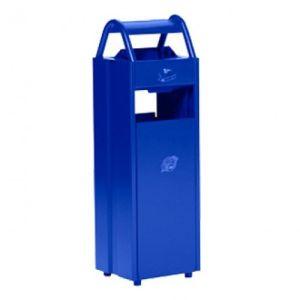 Abfalleimer inkl. Ascher mit Schutzdach - Inhalt 5 + 35 Liter