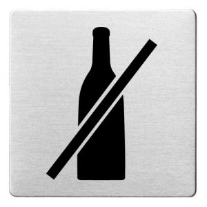 Piktogramm - Flaschen verboten (ecken abgerundet)