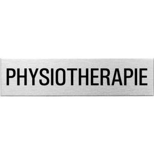 Textschild - Physiotherapie (eckig)