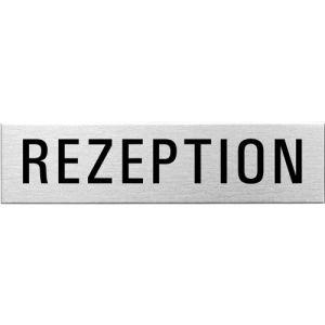 Textschild - Rezeption (eckig)