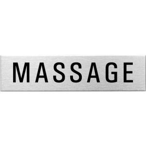 Textschild - Massage (eckig)