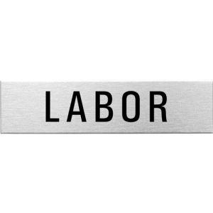Textschild - Labor (eckig)