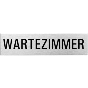 Textschild - Wartezimmer (eckig)