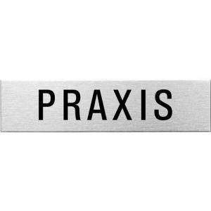 Textschild - Praxis (eckig)