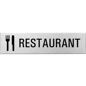 Textschild+Symbol - Restaurant