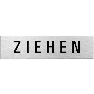 Textschild - Ziehen (eckig)