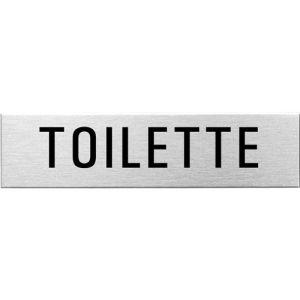 Textschild - Toilette (eckig)