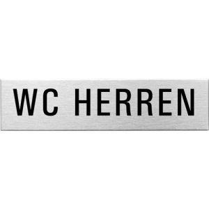 Textschild - WC Herren (eckig)
