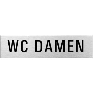 Textschild - WC Damen (eckig)