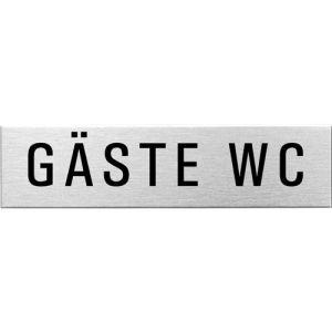 Textschild - Gäste WC (eckig)