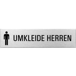 Textschild+Symbol - Umkleide Herren