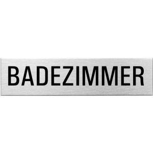 Textschild - Badezimmer (eckig)