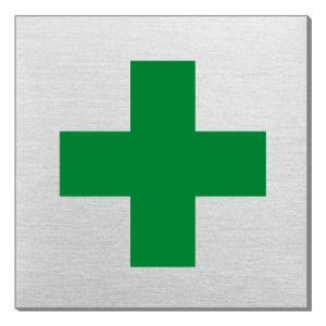 Piktogramm - Grünes Kreuz (quadratisch)