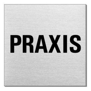 Textschild - Praxis (quadratisch)