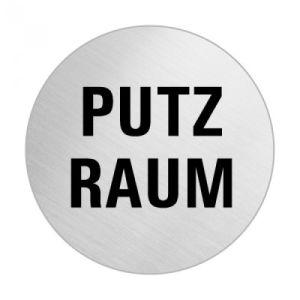 Textschild - Putzraum (rund)