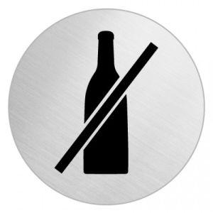 Piktogramm - Flaschen verboten (rund)